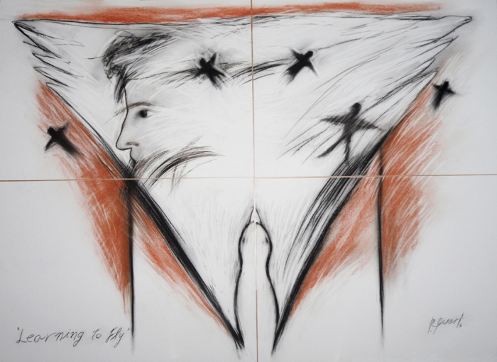 learnig to fly 140 x100 cm